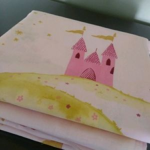 1 m Pink fabric baby Girl princess Castle  sewing